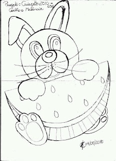 coelho com melancia