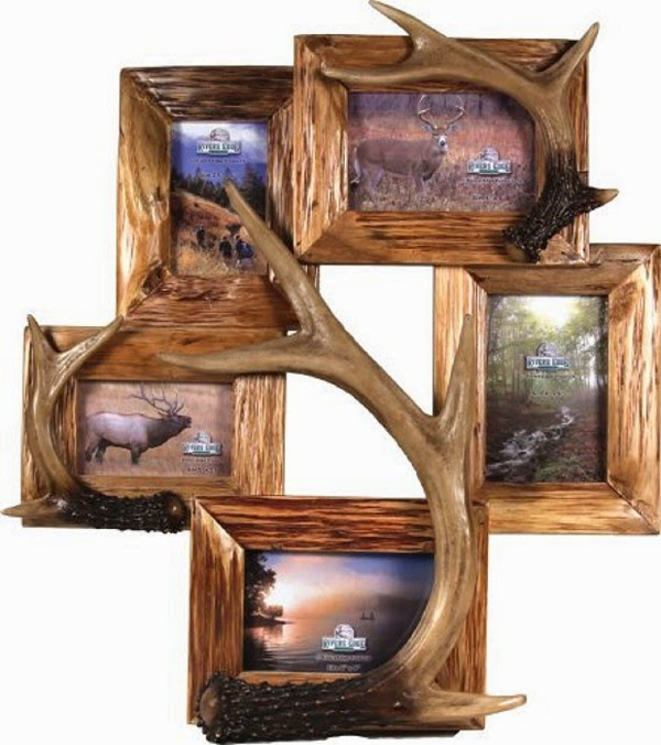 5 Picture Deer Antler Picture Frame | 5x7 Collage frames