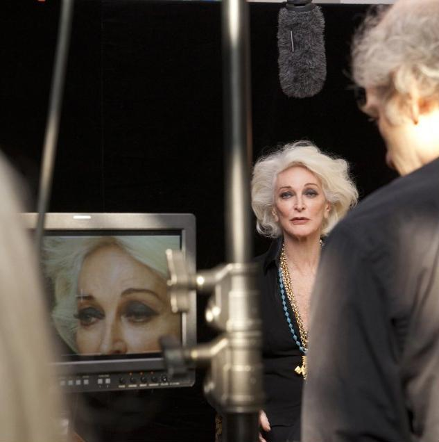 Behind the scenes: Carmen Dell'Orefice