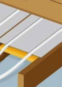Pose plancher chauffant pour combles et mezzanine entre solives