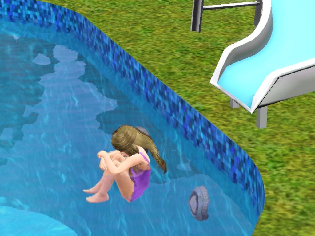 The sims 3 s ries the sims 3 escorregador na piscina for Piscina sims 4