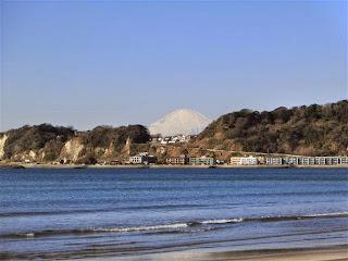 材木座海岸:富士