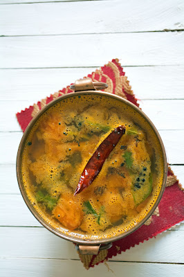 Bring this rasam mixer over the stove on high flame