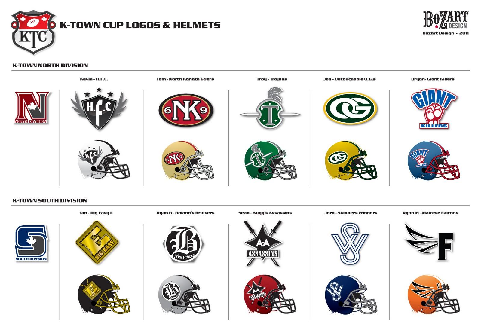 Awesome fantasy football team logos