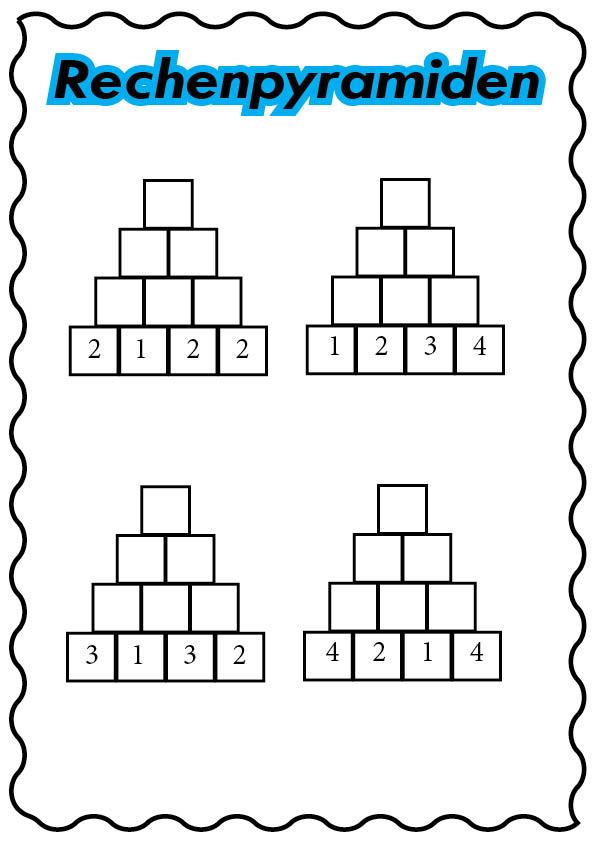 Zahlenmauern klasse 2