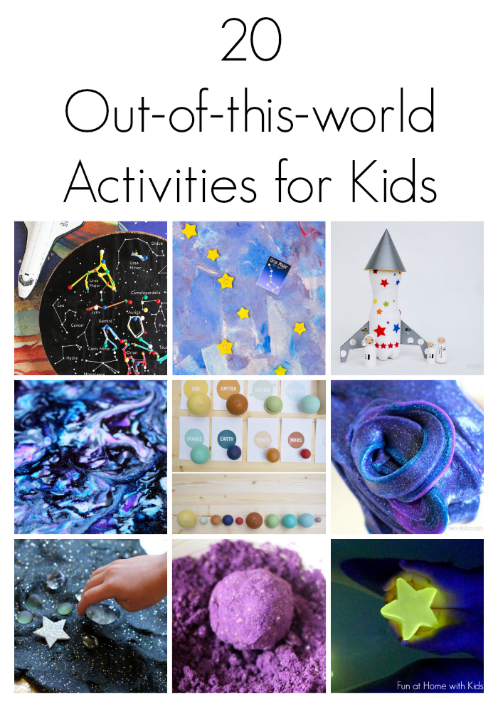 20 outer space themed activities for kids for Outer painting design