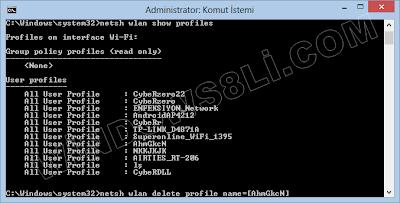 Windows 8 Tüm Ağları Görme