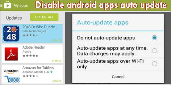 Cara Mudah Menghentikan Aplikasi Android Update otomatis