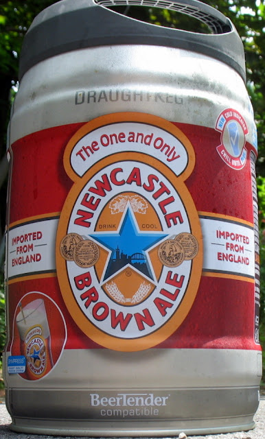 Draught mini keg of Newcastle Brown Ale
