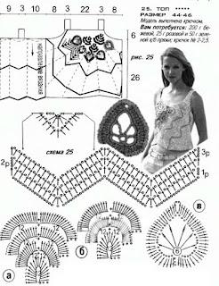 Вязание Крючком Блузки Схемы Топики