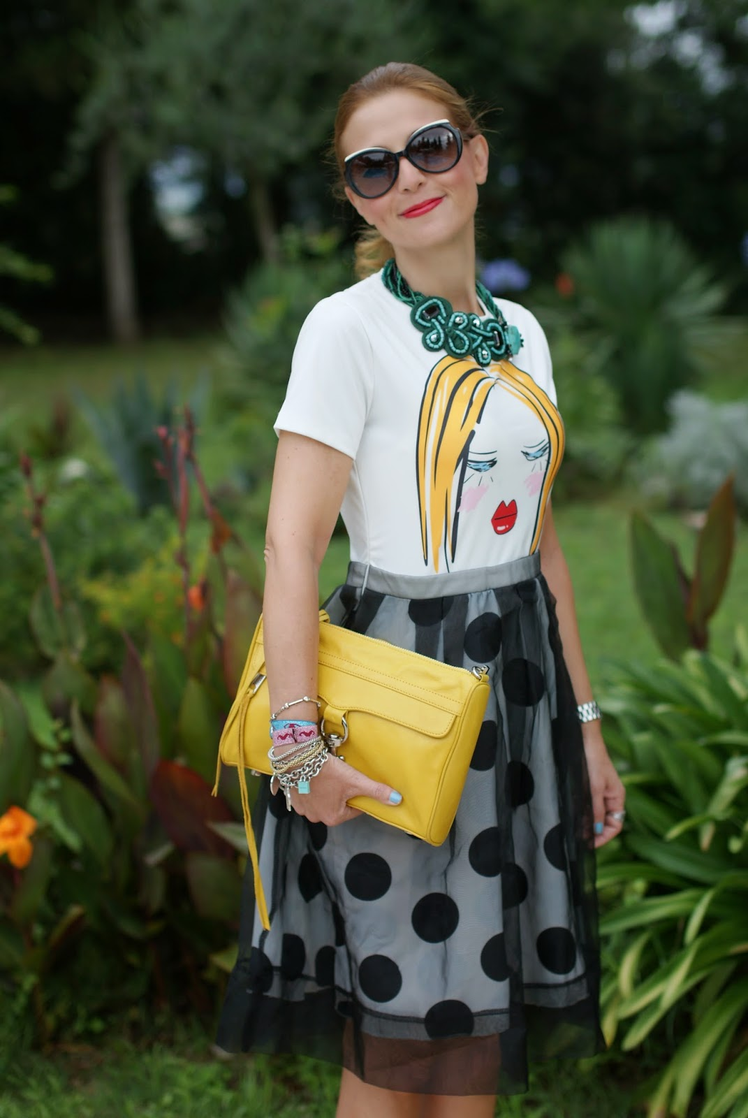 Blackfive lady head dress, Marc by Marc jacobs sunglasses, Rebecca Minkoff yellow bag, Sodini necklace, Fashion and Cookies, fashion blogger
