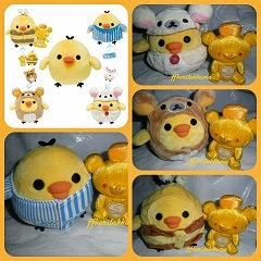2011 Japan Lawson LE Costume change Kiiroitori Plush Set
