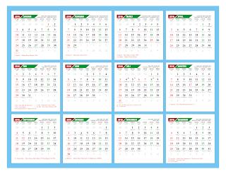 Kalender 2016 Lengkap Jawa dan Hijriah (Preview Desain 2)