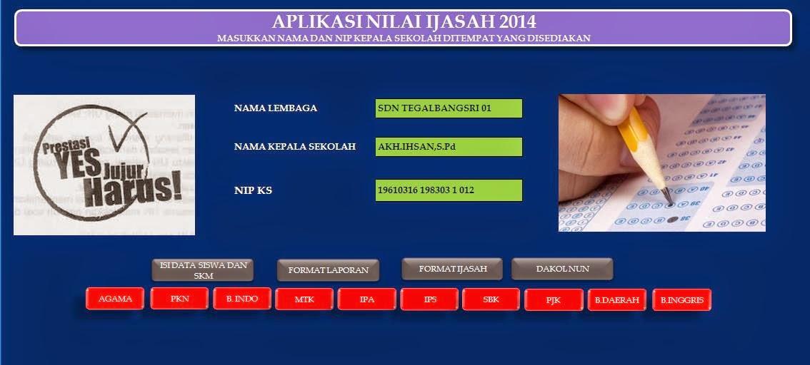 Aplikasi Nilai Un Dan Ijasah Kelas 6 2014 Informasi Pendidikan