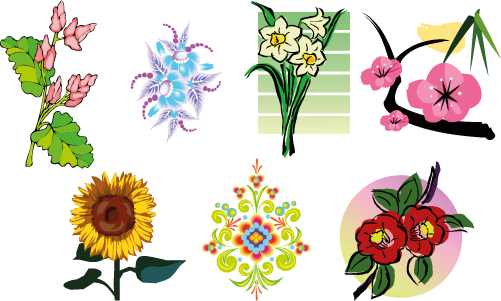 Flores varias - Vector