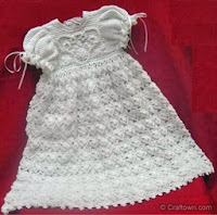 christening gown free crochet patterns-vintage crochet patterns-baby crochet patterns-free crochet patterns