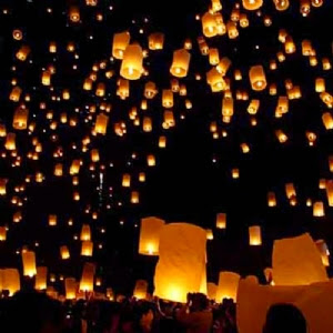 flying lanterns, lamparas voladoras