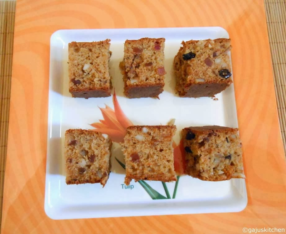 eggless dry fruit cake