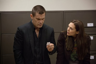 Elizabeth Olsen and Josh Brolin in Oldboy