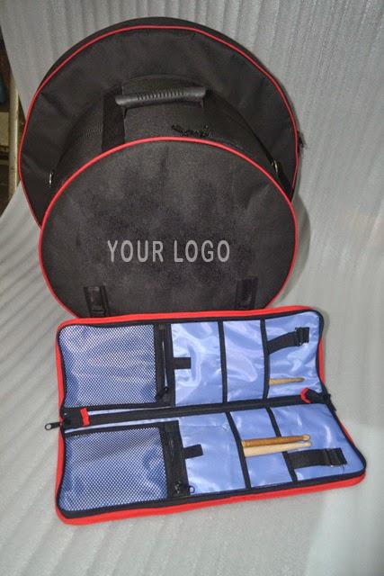 Tas snare, stick dan cymbal custom