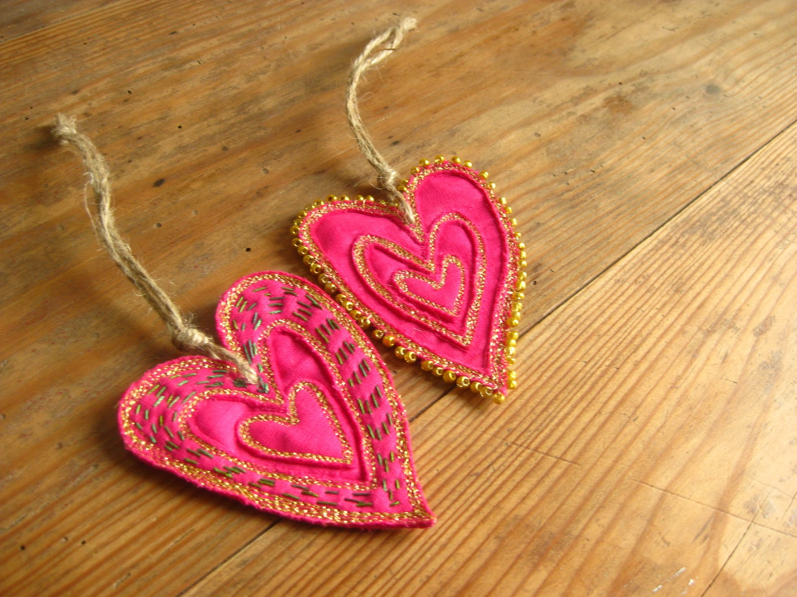 Sewdanish Scandinavian Textile Art Yoga Unique Heart