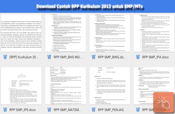 Contoh RPP Kurikulum 2013 untuk SMP/MTs