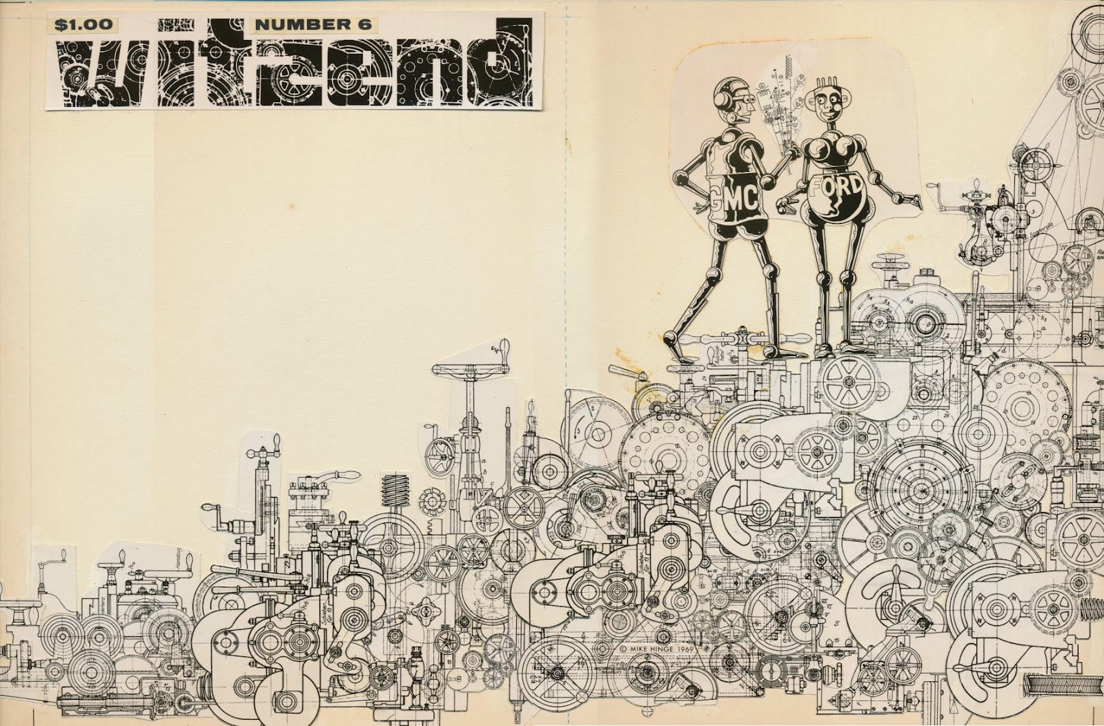 ONYX CUBE: Mike Hinge - Witzend Cover 1969