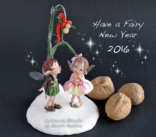 Fairy New Year 2016 - Mini Scultura in Pasta Sintetica by Celidonia