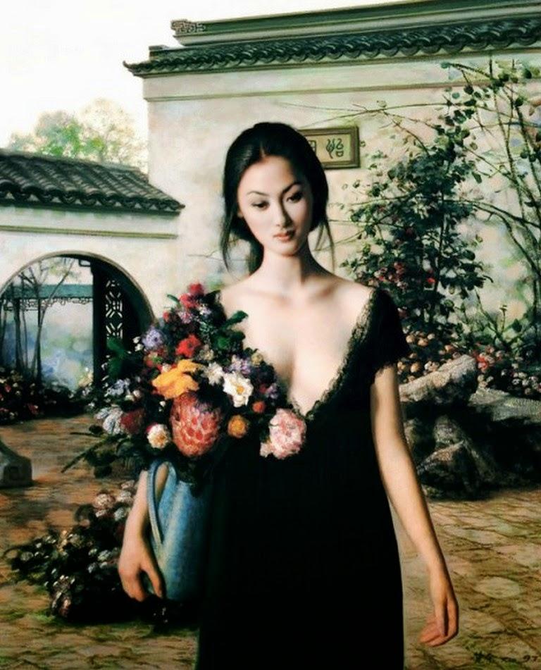 cuadros-de-mujeres-asiaticas-pintadas-al-oleo