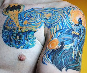 Batman Van Gogh Tattoo