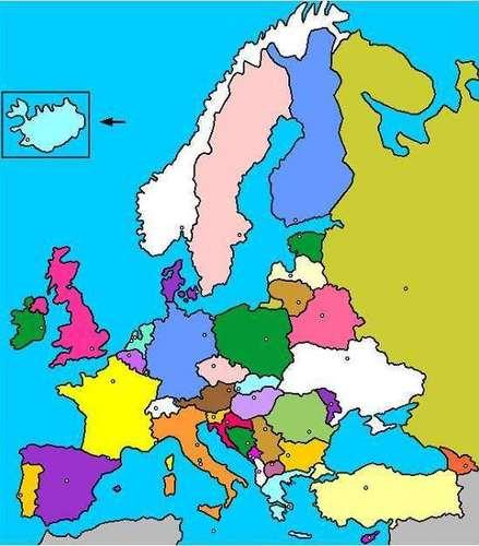 Croquis del mapa politico de europa - Imagui
