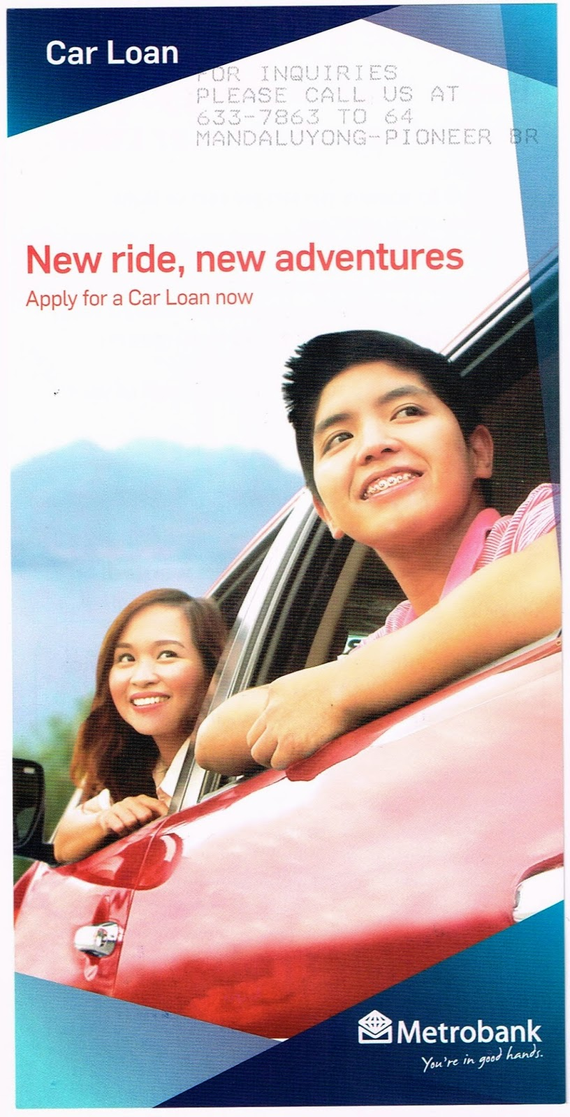 Metrobank: Car Loan New Ride, New Adventures