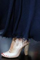 Обувки на висок ток без пета с лакирани нокти на Celine