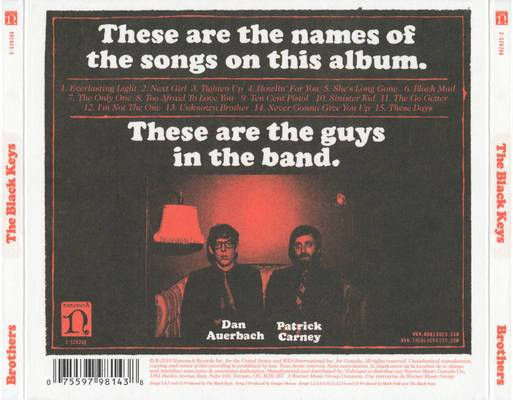 Album Cover Critiques The Black Keys Brothers