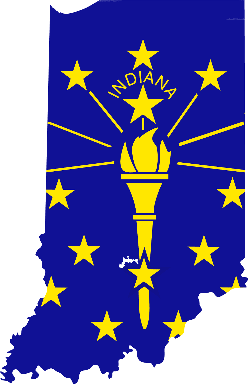 Indiana Flag 072711» Vector Clip Art - Free Clipart Images