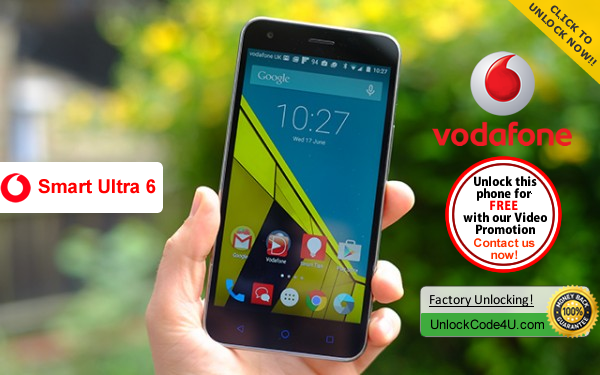 Factory Unlock Code ZTE Vodafone Smart Ultra 6