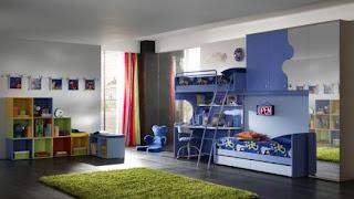 dormitorio azul para chicos