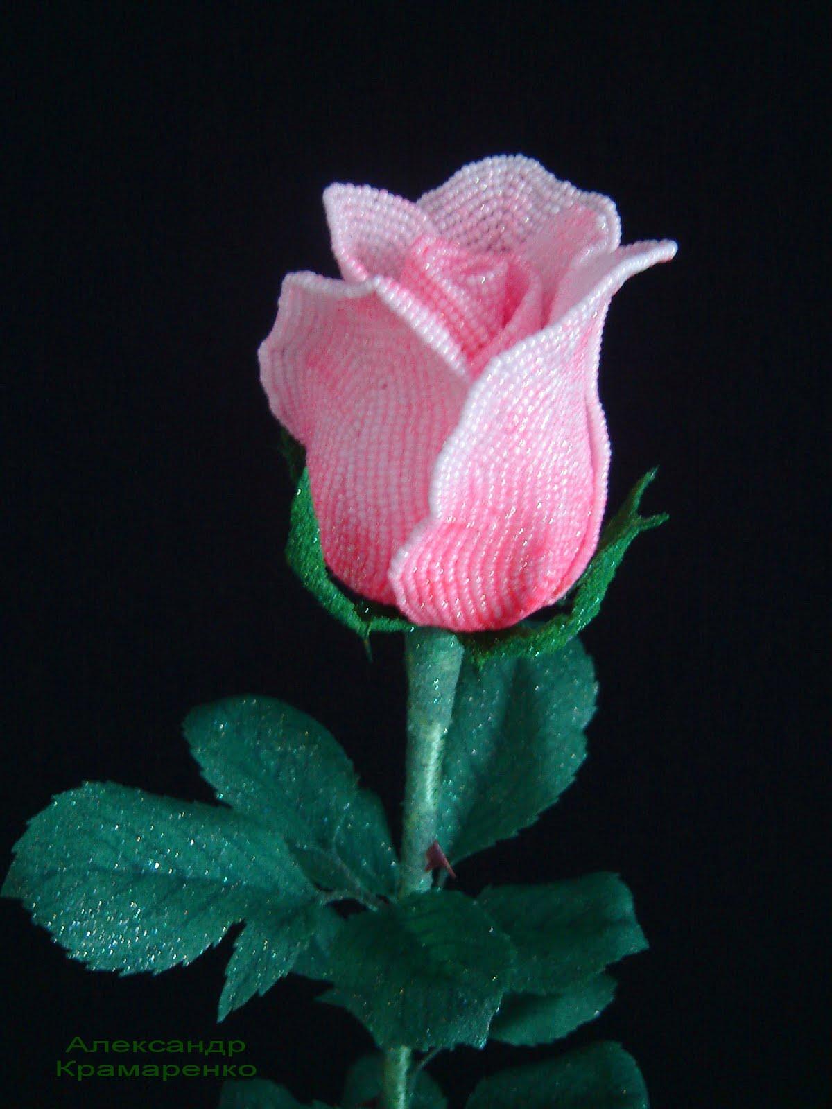 Бутоны роз из бисера мастер класс