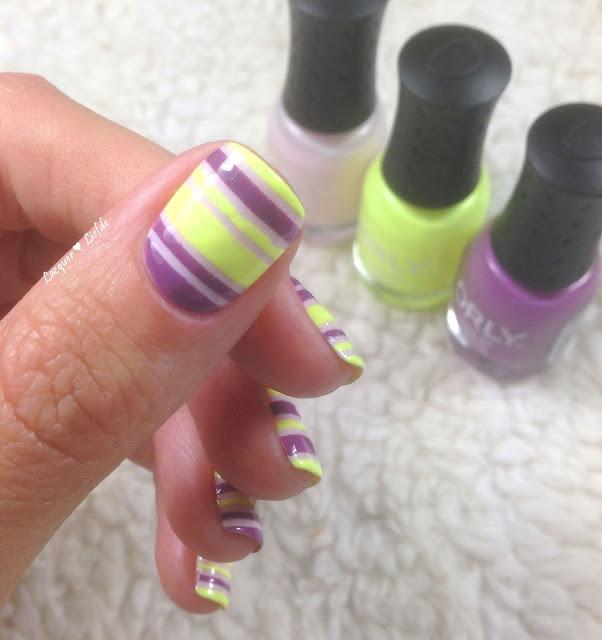 Orly Sugar High Striping Design Key Lime Twist und Cake Pop
