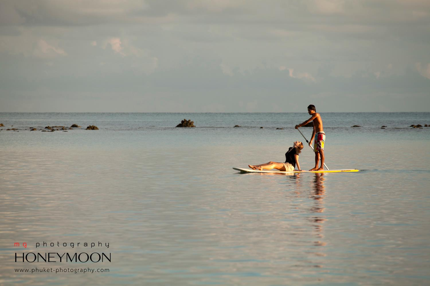 romantic honeymoon, holiday, Stand Up Paddleboarding at Sunset, Things to do on Samui