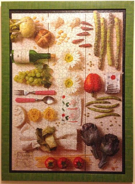 Mediterranean_Food_1000_parça_ravensburger_puzzle_çerçeve_frame