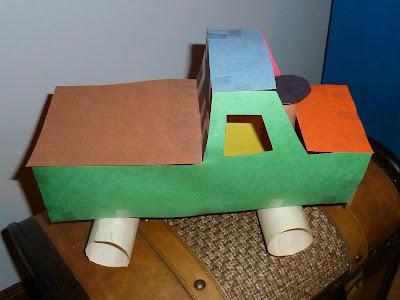 Construction Paper Truck