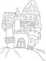 Candyland Castle Coloring Page