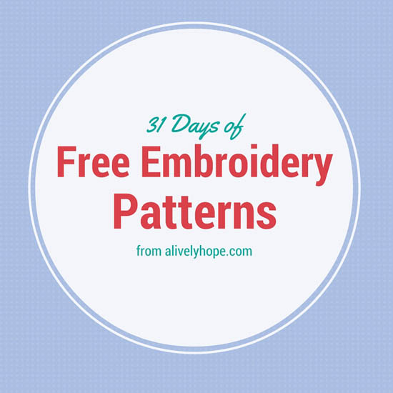 A Lively Hope Free Snowflake Hand Embroidery Pattern