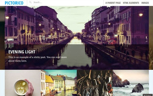 Pictorico Free Photography WordPress Theme