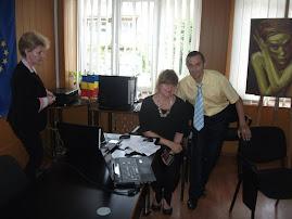 Alături de Prof. Univ. Dr. Chava Baruch, Piatra Neamţ (ISJ Neamţ), 26.05.2015...