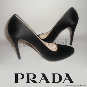 Crown Princess Mary Style PRADA Satin Pumps