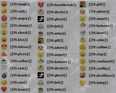 fb smileys 2 fb smileys 3 Facebook Emoticons Code Clap
