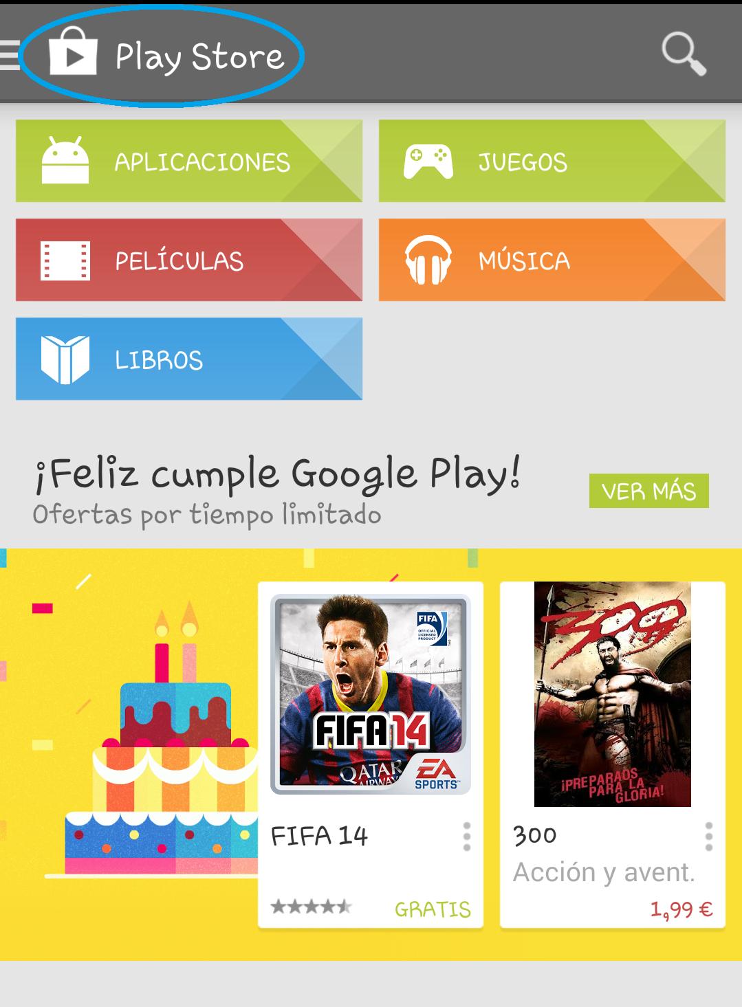 play store actualizar aplicación app
