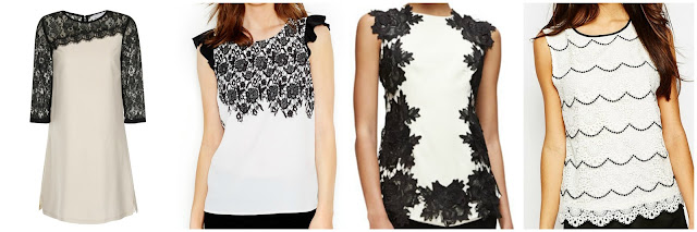 One of these lace tops is from Lela Rose for $1,095 and the other three are under $40. Can you guess which one is the designer top? Click the links below to see if you are correct!